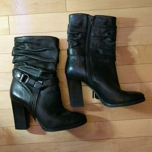 Guess 7.5 or 8 Black Leather Booties